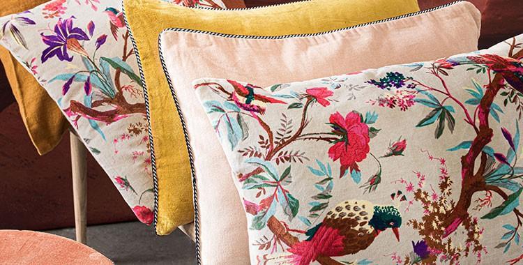 Coussins tendance - Magasins de décoration - Hémisphère Sud