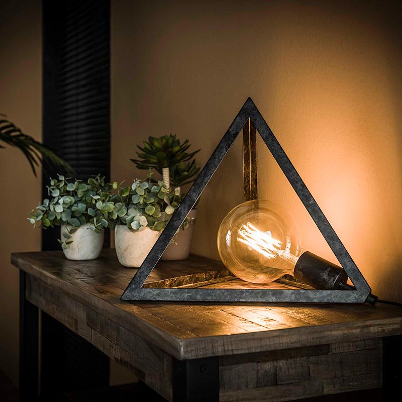 Lampe à poser pyramide ampoule vintage Hémisphère Sud