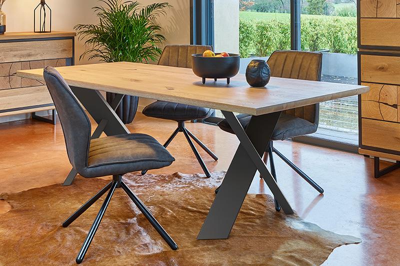 Table en bois et métal CUBA Hémisphère Sud
