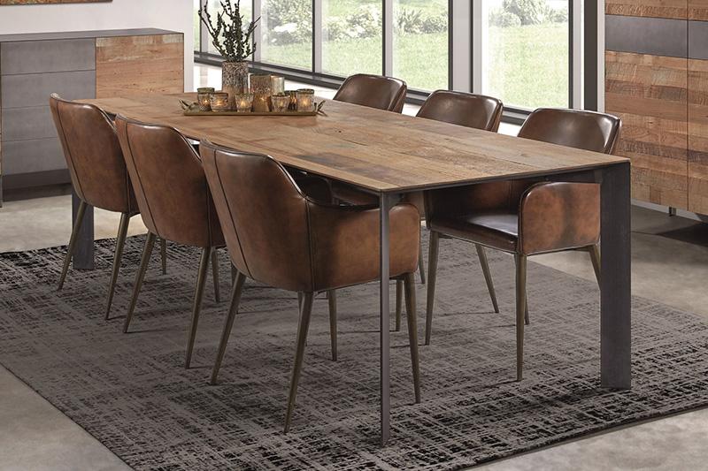 Table en bois et métal NADAL Hémisphère Sud