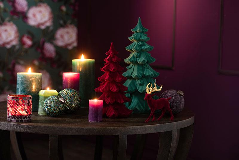 Bougies décoration Noël Hémisphère Sud