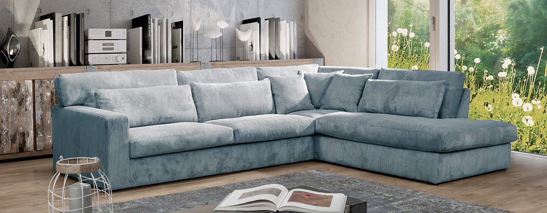 Au salon : un canapé d'angle ou deux canapés ? Nos conseils pour bien choisir
