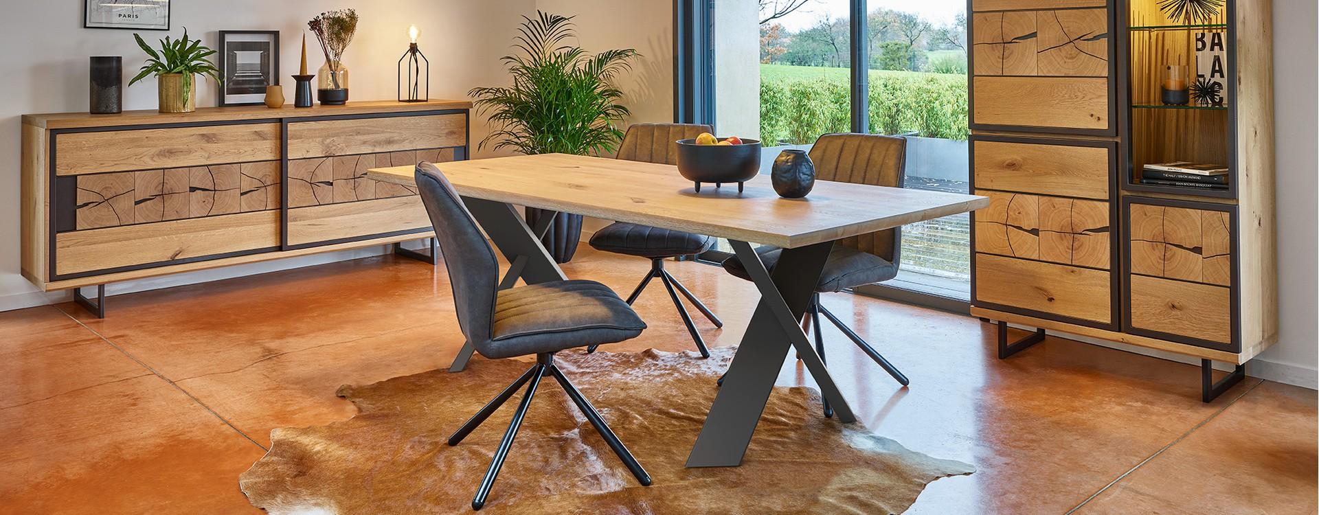 Tendance industrielle : 5 idées de tables à manger bois et métal